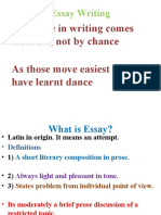lecture EssayWriting
