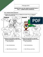 Vorbereitung auf die AP A1 (Sprechen 1)