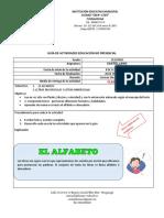 Guia Español el Alfabeto- Inicio 8 feb