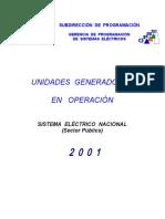 Centrales en Operacion 2001