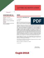 Lettredemotivation-Kaouther Benali - Cegid2018