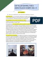 CORRECION TALLER ESPAÑOL FASE 6