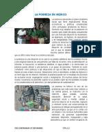 Ensayo- La Pobreza en Mexico