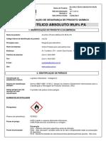 ALCOOL ETILICO ABSOLUTO A-8738 ONU 1170