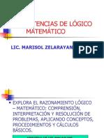 COMPETENCIAS DE LÓGICO MATEMÁTICO
