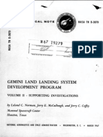 Gemini Land Landing System Development Program Volume II - Supporting Investigations