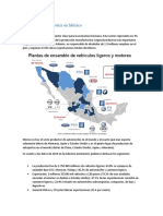 La Industria Automotriz en Mexico 2021