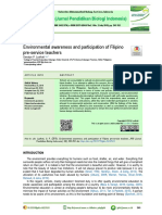 Environmental Awareness and Participation of Filip