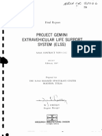 Project Gemini - Extravehicular Life Support System ELSS Final Report, 30 Jan. 1964 - 31 Mar. 1967