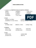 Cifras significativas - ejercicios