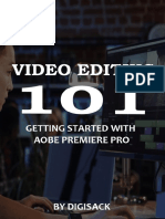 Video Editing 101 getting start with adobe premiere pro