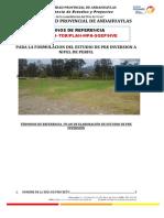 TDR LOSA DEPORTIVA DE USO MULTIPLE EN EL SECTOR DE AYSAYHUANA, BARRIO DE PULLURI