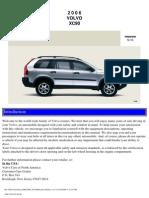 VOLVO XC90 2006 User Manual