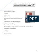 chegg.com-Steel Design 5th Edition Edit edition 100 16 ratings for this chapters solutions Solutions for Chapte
