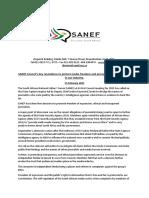 Sanef Presser - SANEF Council Key Resolutions on Media Freedom