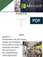 Presentation strategic