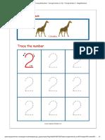 Number Tracing Worksheet - Tracing Numbers (1-10) - Tracing Number 2 - MegaWorkbook