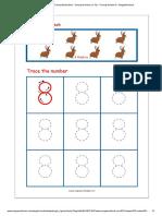 Number Tracing Worksheet - Tracing Numbers (1-10) - Tracing Number 8 - MegaWorkbook