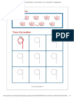 Number Tracing Worksheet - Tracing Numbers (1-10) - Tracing Number 9 - MegaWorkbook
