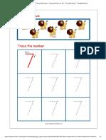 Number Tracing Worksheet - Tracing Numbers (1-10) - Tracing Number 7 - MegaWorkbook