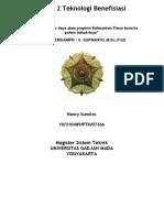 Tugas benefisiasi 2-potensi dan pohon industri KALTIM