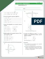 Matemáticas 11 Evaluación Diagnóstica
