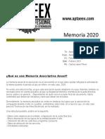 Memoria Aptaeex 2020