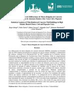 Analisis Estadistico Edificaciones Muros Delgados CR Cali Popayan