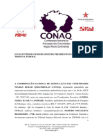 Documento das comunidades quilombolas