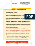 Cálculo II - Tercer Parcial 202115-Modelo B-10 Feb