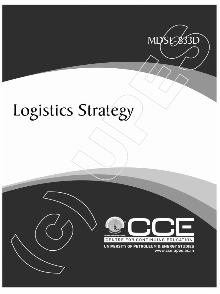 MDSL21D Logistic Startegy   Supply Chain Management   Logistics