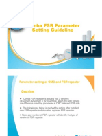Comba FSR parameter setting guideline