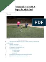 Entrenamiento de RSA Adaptado Al Fútbol