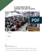 Les maux de la formation initiale vus par la Cour des comptes