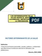 _determinantes de Salud Lalonde y Su Importancia en Preventiva