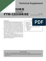 FTM 3100 - FTM3200 Service Manual