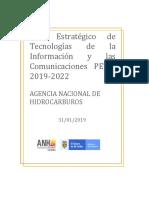 Plan Estratégico de Tecnologías de La Información y Las Comunicaciones - PETIC 2019-2022