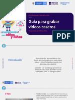 Guía para grabar videos caseros
