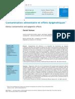 Contamination alimentaire et effets épigénétiques