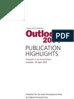 Asian Development Outlook 2004 Highlights