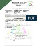 GUIA DE APRENDIZAJE ESTRATEGIA EDUCACION VIRTUAL  GEOMETRIA 12021