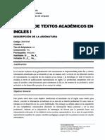 Lectura de Textos Acad. en Ingles I