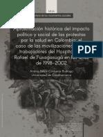 Aproximación histórica del impacto político y social de las protestas por la salud en Colombia