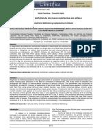 sintomas de deficiencia em alface