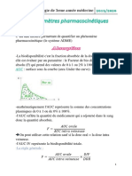 3.Pharmaco3an Parametres Pharmacocinetiques2020derouiche