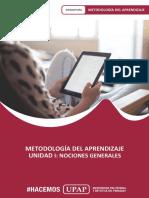 UNIDAD I_CONTENIDO_METODOLOGÍA APRENDIZAJE