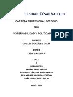 GOBERNABILIDAD Y POLÍTICAS PÚBLICAS