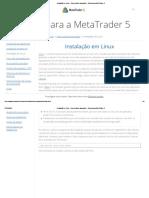 Instalação em Linux - Para usuários avançados - Ajuda para a MetaTrader 5