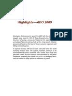 Asian Development Outlook 2009 Highlights