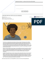 Suplemento Pernambuco - O racismo sob olho crítico de Lélia González